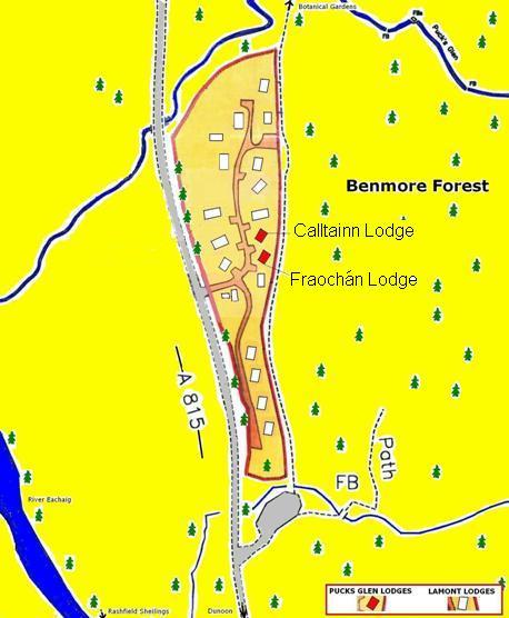 Pucks Glen Lodges Map